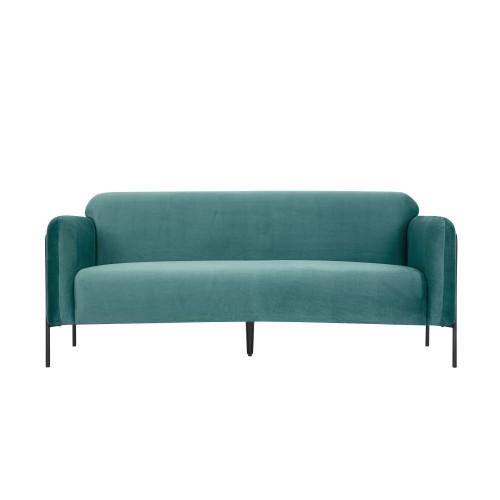 acheter canape 2 places en velours bleu vert