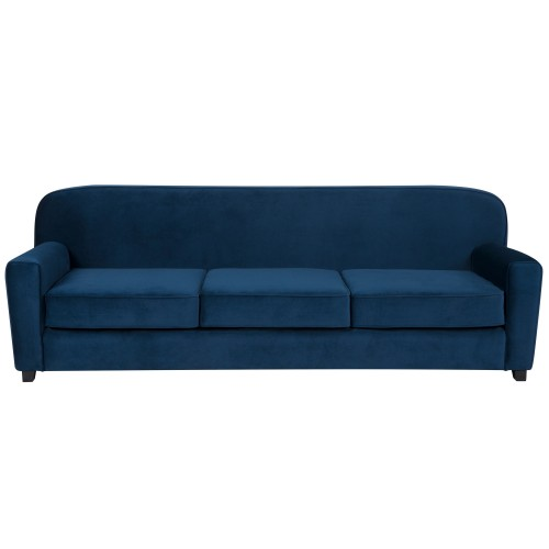 Canapé Gigi 3 places en velours bleu foncé