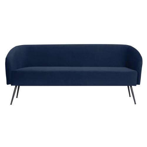 acheter canape 3 places en velours bleu