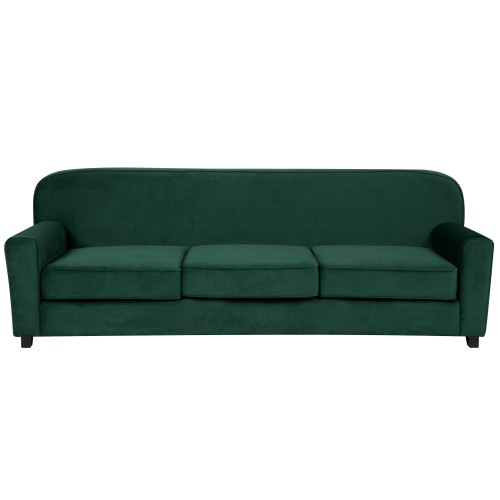 Canapé Gigi 3 places en velours vert foncé