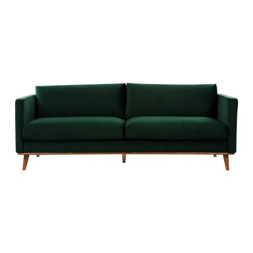 acheter canape confortable en velours vert fonce