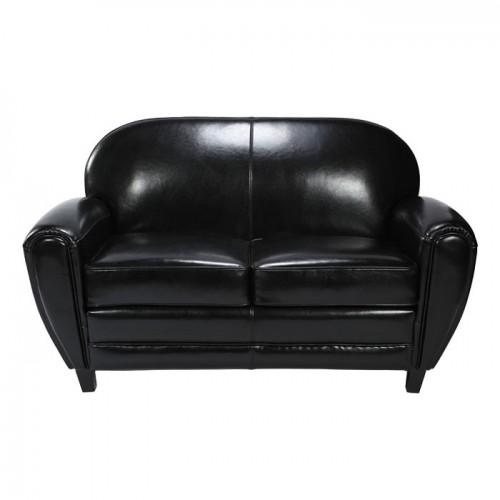 canape club noir design