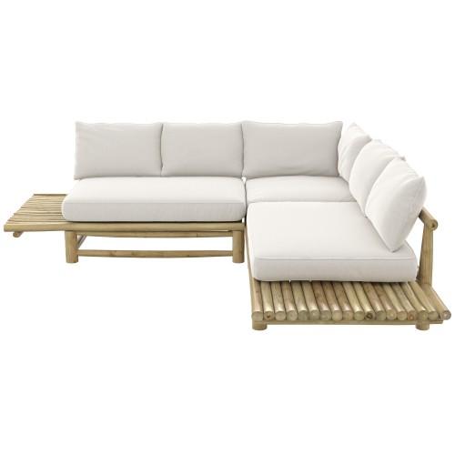 acheter canape en tissu blanc cassse et bois