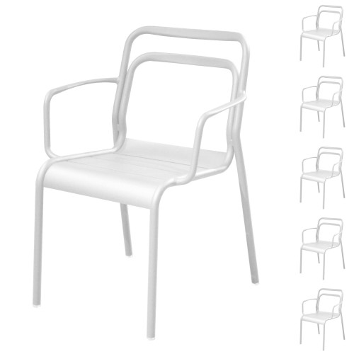 acheter chaise blanche empilable