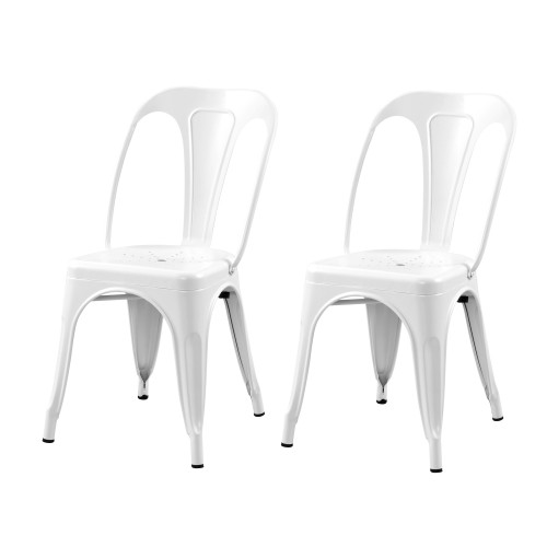 acheter chaise blanche en metal industriel