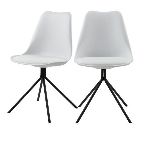 acheter chaise blanches lot de 2