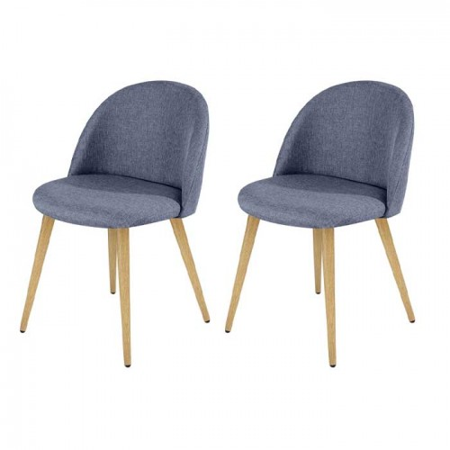 achat chaise en tissu bleu