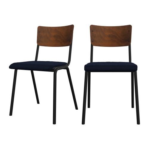 acheter chaise confortable en velours et bois