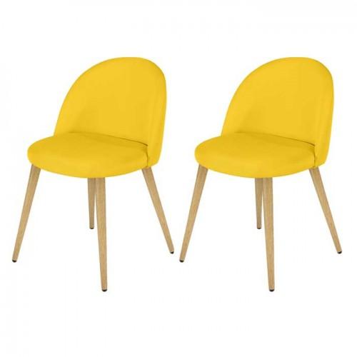 acheter chaise confortable jaune tissu