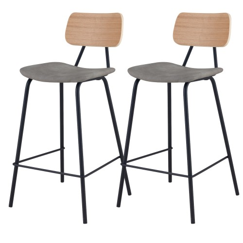 acheter chaise de bar en bois et tissus