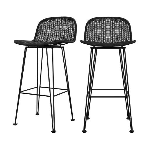 acheter chaise de bar lot de 2 assise resine