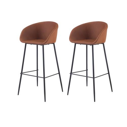 acheter chaise de bar marron simili cuir