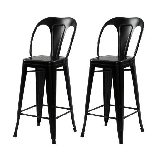 acheter chaise de bar noire en metal