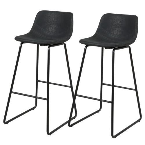acheter chaise de bar noire lot de 2