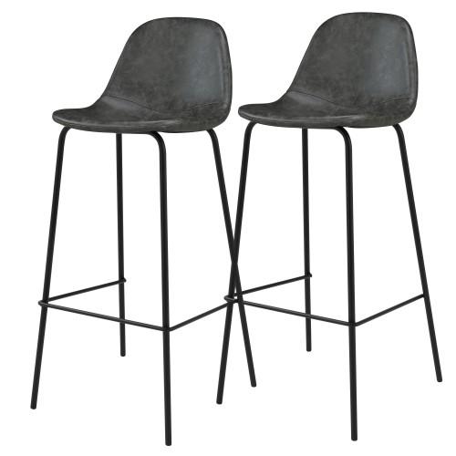 acheter chaise de bar noire synthetique