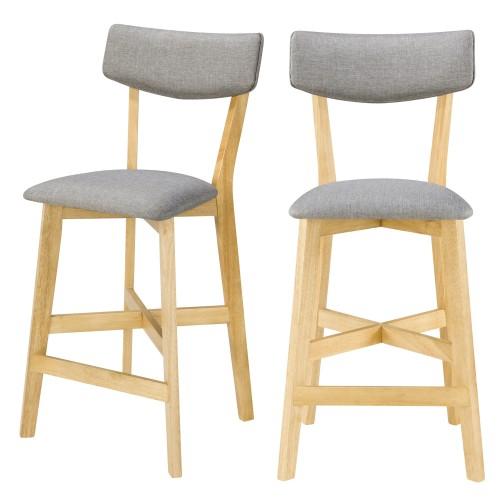acheter chaise de bar pieds bois clair