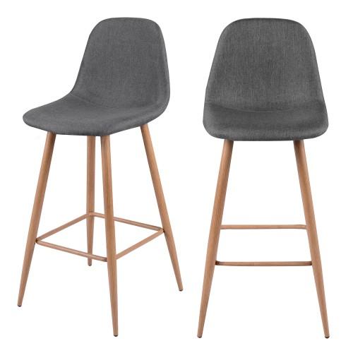 acheter chaise de bar scandi grise tissu