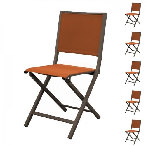 acheter chaise de repas exterieur orange
