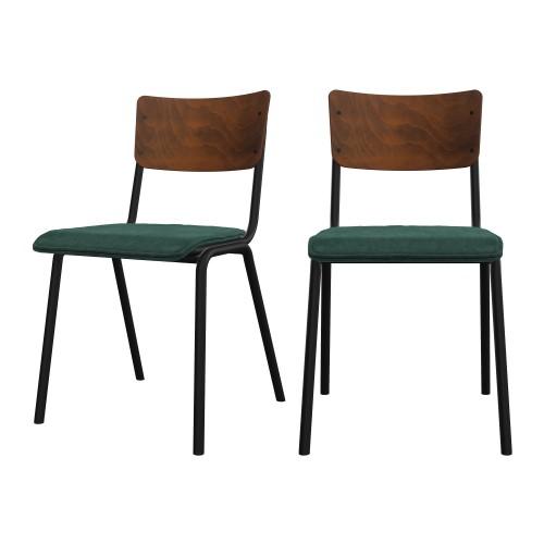 acheter chaise ecolier lot de 2 design
