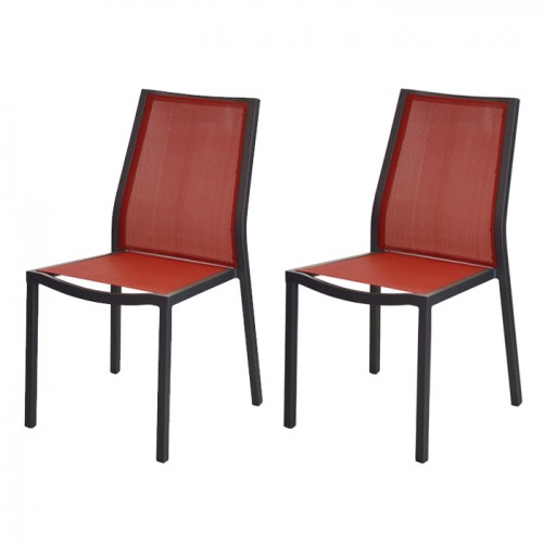 acheter chaise empilable de jardin rouge