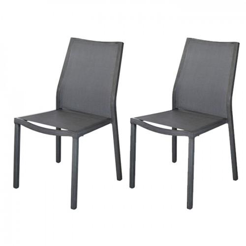 acheter chaise empilable lot de 2 grise