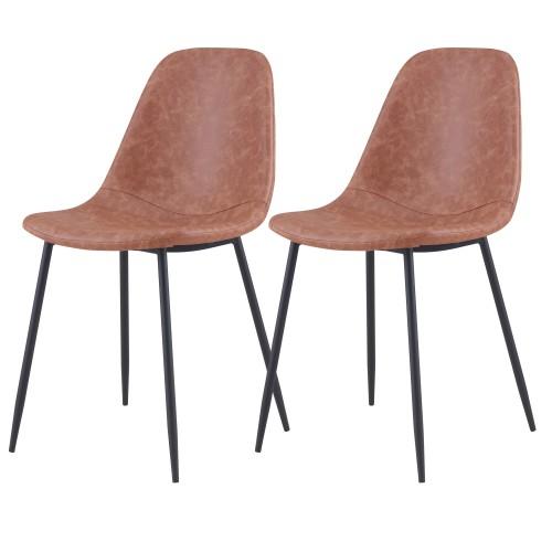 acheter chaise en simili-cuir-taupe-lot-de-2