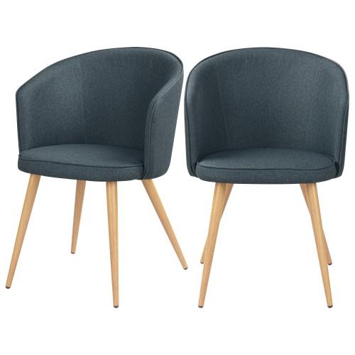 acheter chaise en tissu bleu