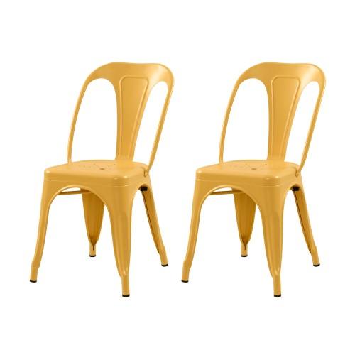 Chaise Indus jaune mat (lot de 2)