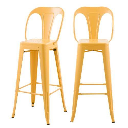 acheter chaise indus jaune en metal