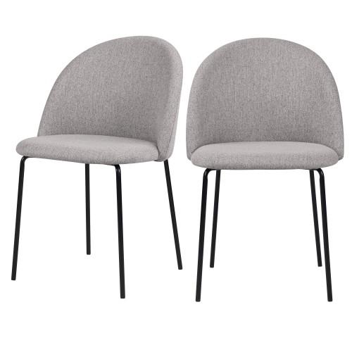 acheter chaise lot de 2 gris clair