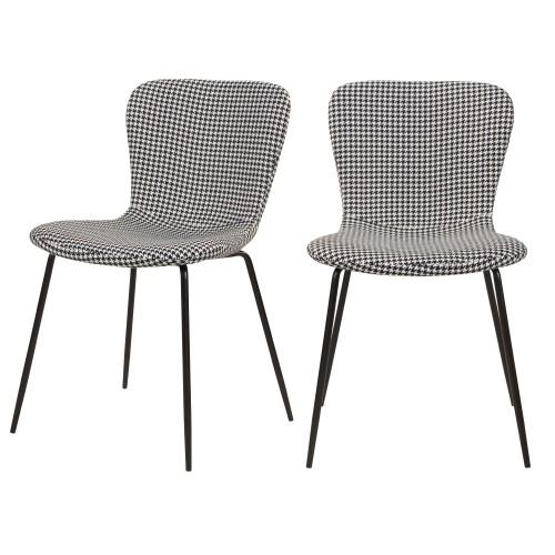 acheter chaise lot de 2 pied de poule