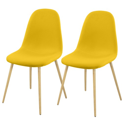 Chaise Fredrik jaune (lot de 2)