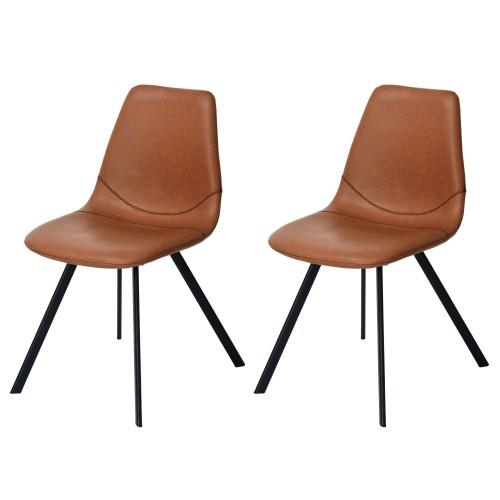 acheter chaise marron cuir synthétique