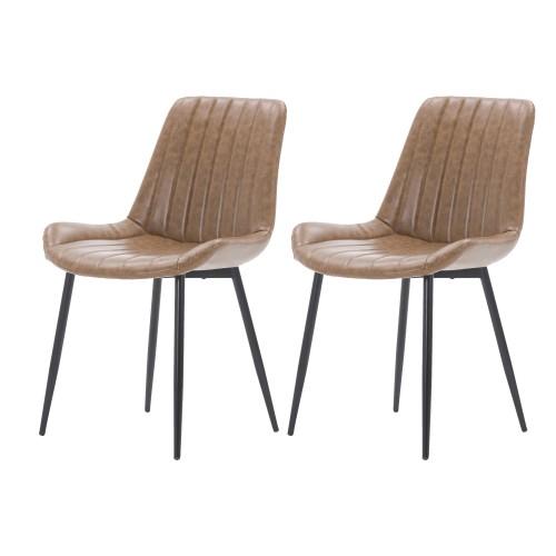 acheter chaise marron simili cuir