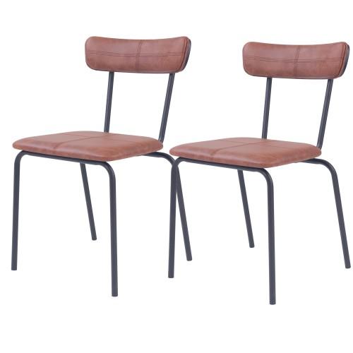 acheter chaise marron simili vintage