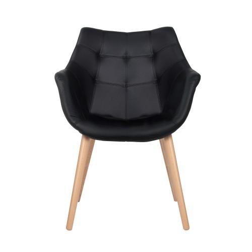 acheter chaise noire pieds bois