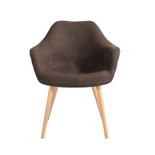 chaise tissu marron anssen