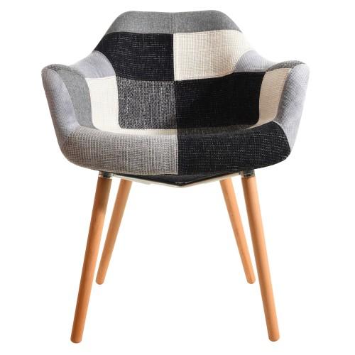 acheter-chaise-patchwork-gris-tissu