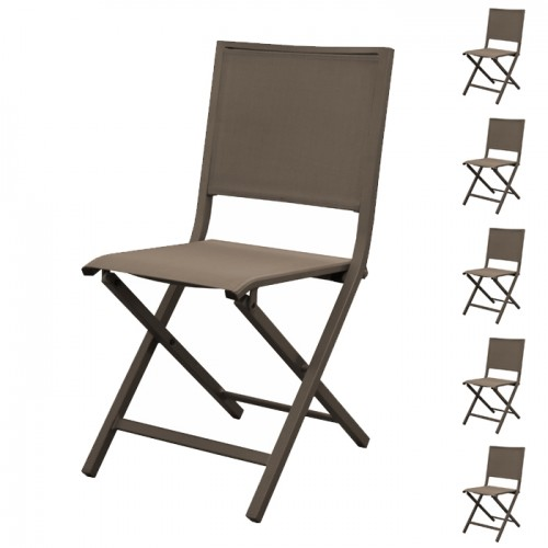 acheter chaise pliante cafe lot de 6