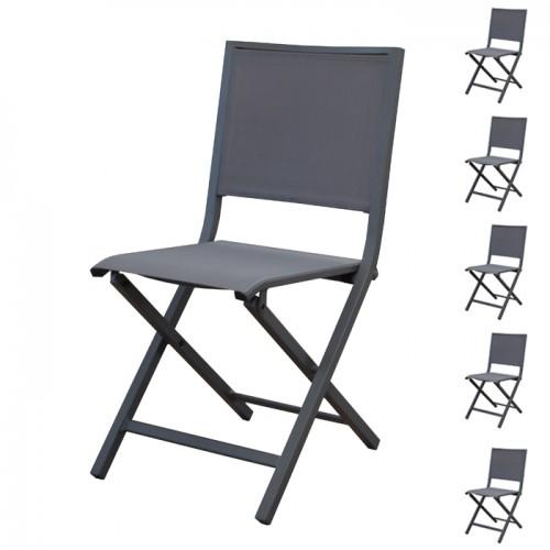 acheter chaise pliante de jardin grise