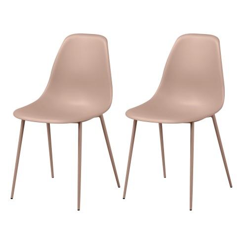 acheter chaise rose lot de deux