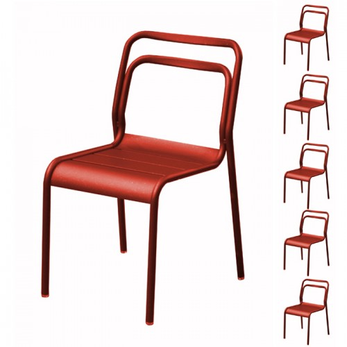 acheter chaise rouge design de jardin