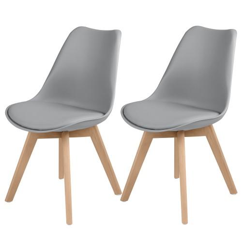 acheter chaise scandi grise lot de 2