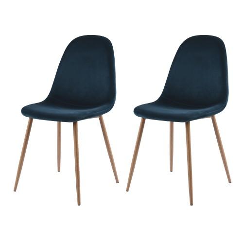 acheter chaise scandinave bleue
