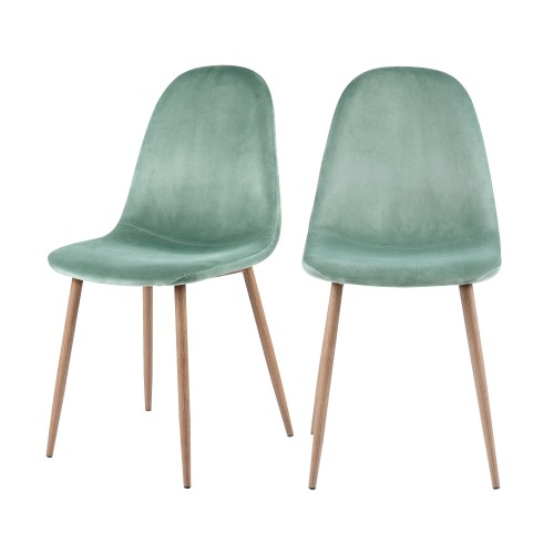 acheter chaise scandinave velours vert d'eau design