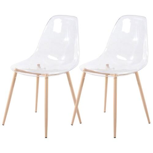 acheter chaise transparente scandinave