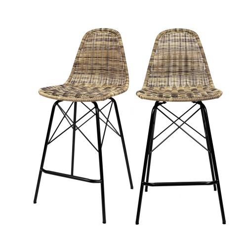 acheter chaise tresse lot de deux