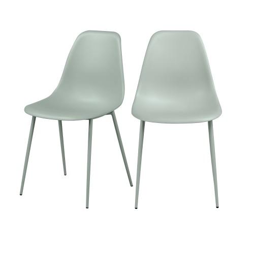 acheter chaise vert pastel design lot de 2