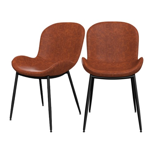 acheter chaise vintage simili cuir marron