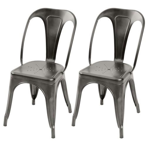 acheter chaise indus anthracite